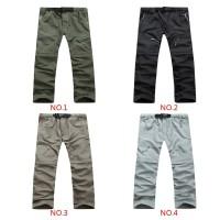 Outdoor Celana Panjang Pria Quick Dry Detachable untuk Hiking /