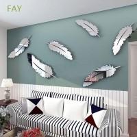Fay 8Pcs / Set Stiker Dinding Cermin Vivid untuk Ruang Tamu