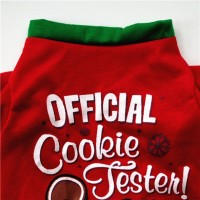 Kaos T-Shirt Anjing Warna Merah untuk Natal
