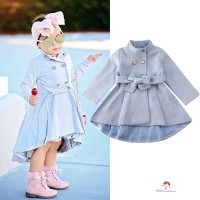 ❤XZQ-Toddler Baby Girl Outerwear Long Dress Windbreaker Jacket