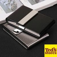 FOCUS Kotak Bungkus Rokok Elegan Leather Cigarette Case [Hitam]
