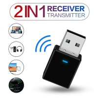USB Bluetooth 5.0 Transmitter 2-in-1 Receiver for PC TV Speaker Car TG