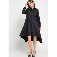 EDITION WOMEN ED96BLACK Long Sleeve Woven Dress