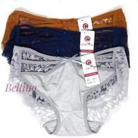 Celana Dalam Wanita Brief Transparan / CD Cewek Renda Model Brukat