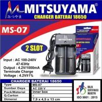 Charger Baterai Universal 3.7V Mitsuyama MS 07 Alat Cas Baterai 18650