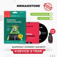 Antivirus Kaspersky Internet Security / KIS 4 PC 2 Tahun