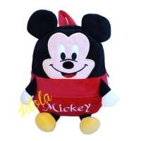 Backpack Boneka Motif Mickey Mouse Terbaru / Tas Punggung Perempuan