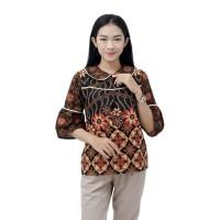 Batik Wanita Blouse Batik Wanita Atasan Jumbo S-M-L-XL-XXL-3L-4L-5L ok