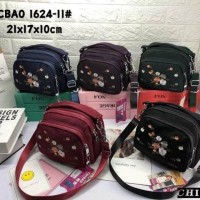Tas Wanita Import Jinjing Selempang CHIBAO CB1624 1624 Bordir Bunga