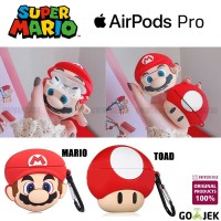 Airpods Pro Case / Casing / Cover Softcase Mario Toad