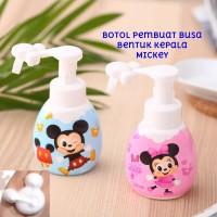 Botol Foam Kepala Mickey Pembuat Busa Sabun Pump Bubble Maker Soap Dis