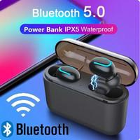 Headset Bluetooth 5.0 Sport Q32 Waterproof With Powerbank Box