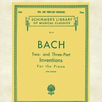 Buku piano Bach two and three part invention Schirmers Library