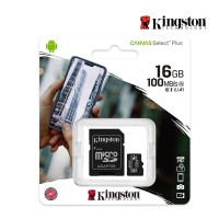 KINGSTON MICRO CANVAS SDCS2/16GB C10 100MB/S + Adpt