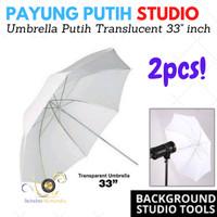 Paket Payung Transparant / UMBRELLA STUDIO / Payung Foto Putih Payung