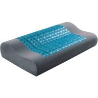 Pantone Bantal Kesehatan Charcoal Memory Foam Cool Gel / Kepala /Leher
