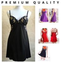 Black Shelie Sexy Nightdress Lingerie +Gstring (Busa Berkawat)