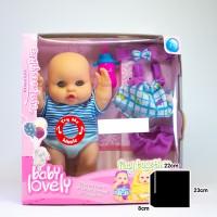 Mainan Anak Perempuan Boneka Bayi Lucu Suara Nyanyi Silikon Doll