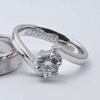 Cincin Kawin/Tunangan Emas putih Aupd EP0133