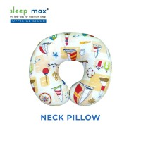 Sleep Max Neck Pillow/Bantal Leher/Bantal Travelling-Perahu Cream