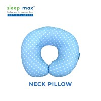 Sleep Max Neck Pillow/Bantal Leher/Bantal Travelling-Dotty Biru