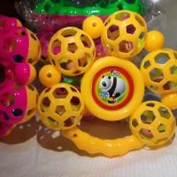 Mainan bayi kerincing bulat kerincingan anak 5 bola