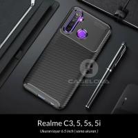 Case Realme C3 5 5s 5i Synthetic Fiber Protective Carbon