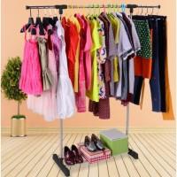 Stand Hanger SINGLE - Rak Gantungan Baju Pakaian Portable Serbaguna