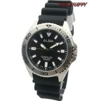 Jam Tgn ALBA ORIGINAL 100% AH9025X1 Sport Rubber Black AH9025 GARANSI