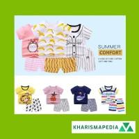 Baju Jumper Pendek Anak Bayi Set Kaos Dengan Celana Piyama