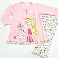 Piyama baju tidur anak perempuan Barbie, sz 10, 12