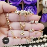 xuping set perhiasan anak lapis emas p1832
