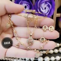xuping set perhiasan anak lapis emas p1837