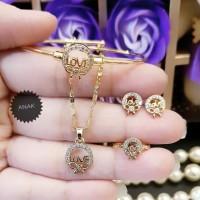 xuping set perhiasan anak lapis emas p1835