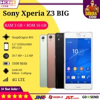 Hp Handphone Sony Xperia Z3 Big Docomo Second Murah Android Gaming 4G