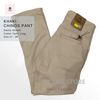 Celana Chino panjang / Chino Pants Murah Bahan Cotton Twill - Cream, 30