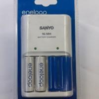 Baterai Sanyo Enelop AA+charging isi 2 baterai AA