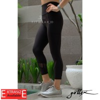 Legging olahraga wanita(Fitness,Yoga,Zumba) Gottex ankle mesh 7/8[Blk]