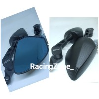 Spion Ducati Full CNC Full Hitam Nmax - PCX - Xmax - NinjaRR - NinjaR