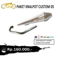 Paket set knalpot japstyle chrome 05