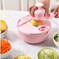 Parutan Serbaguna 12 in 1 / Alat Pemotong Sayur Buah / Alat Dapur