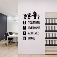 Wall Sticker/Stiker Dinding Kreatif Team - Merah