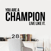 Wall Sticker/Stiker Dinding Kreatif Champion - Merah