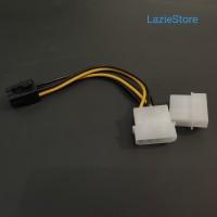Kabel Power VGA 2 Molex to 6 Pin Power PCI-E / Colokan VGA Card 6 Pin
