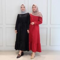 Baju Gamis Syari Wanita Muslim Terbaru Bahira maxi hitam