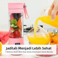 Juice Blender Mini Portable Rechargeable Alat Pembuat Jus