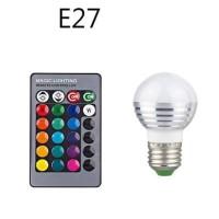Lampu Bohlam LED RGB 3W 16 Colors E27 + Remote Control - 2835
