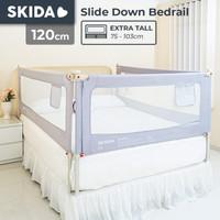 Skida 120cm Extra Tall Bedrail Pagar Ranjang Kasur Bayi Bed Guard Rail