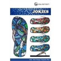 Sandal Glisten Jokies - 9.5, Merah