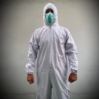 Baju Hazmat APD Alat Pelindung Diri PVC (Polyvinyl Chloride) Reusable